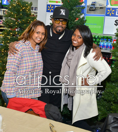 11.21.15 FOOD DRIVE WITH KESHIA KNIGHT PULLIAM, TEDDY RILEY, AND SHANTI DAS